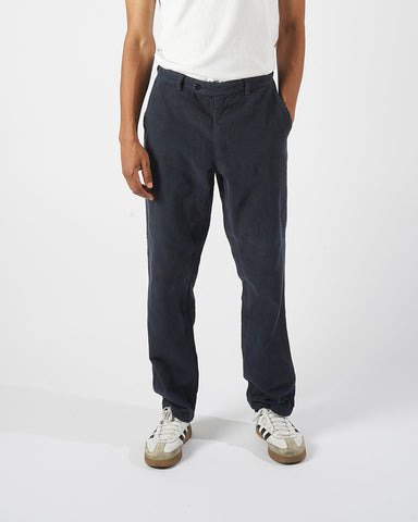 corduroy trousers navy model front