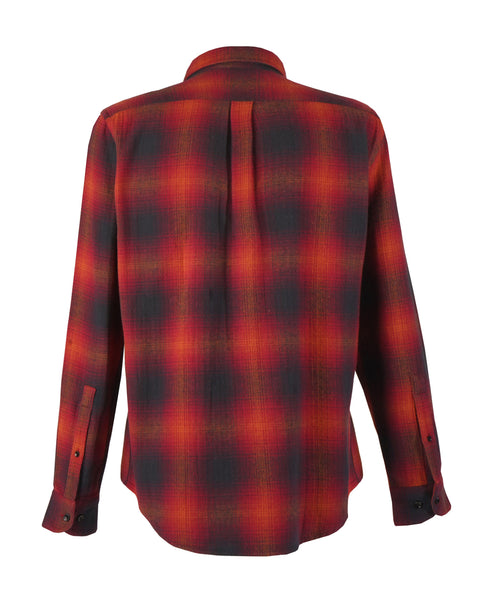 flannel shirt plaid red black product back