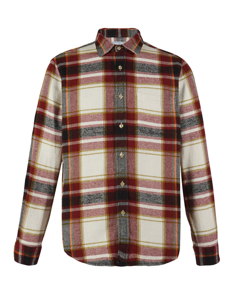 flannel shirt plaid red black white product front
