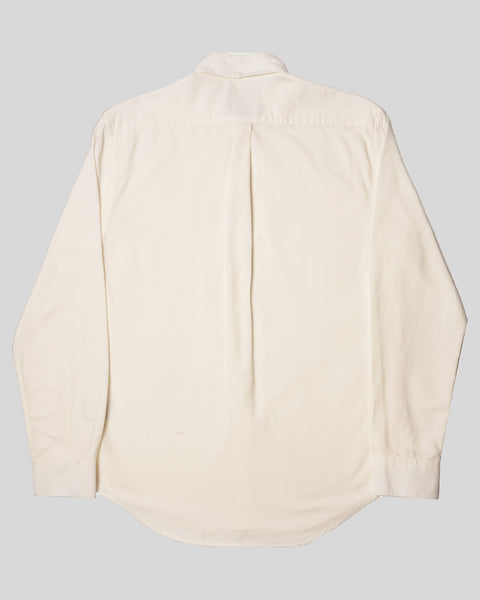 white long sleeve shirt oxford product back