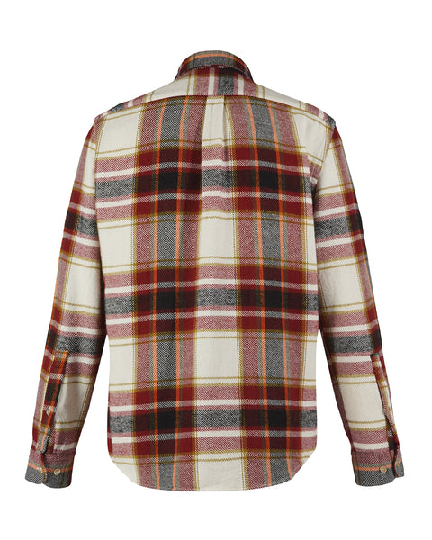 flannel shirt plaid red black white product back
