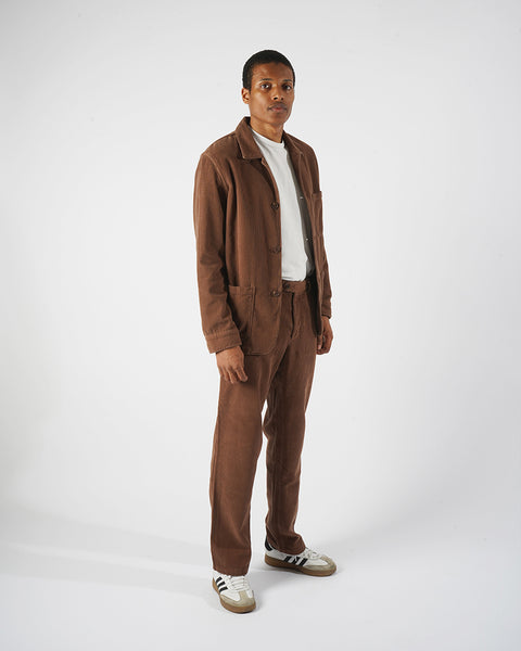 corduroy trousers brown model complete