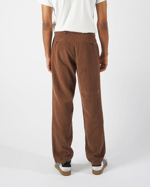 corduroy trousers brown model back
