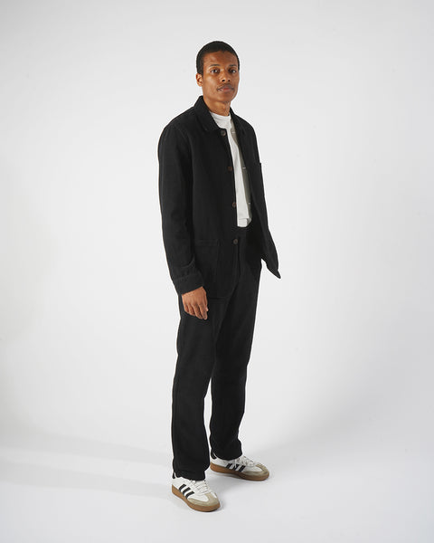 corduroy trousers black model complete
