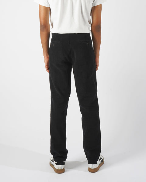 denim trousers black model back