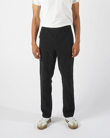 corduroy trousers black model front