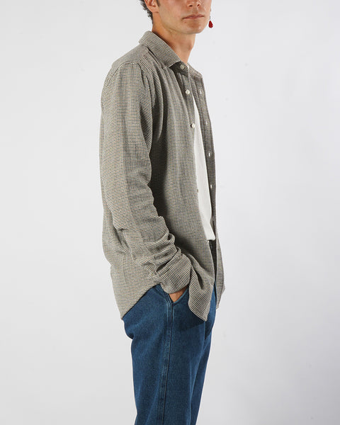 long sleeve shirt tricot grey model side