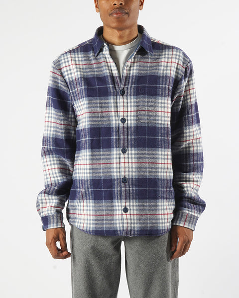 flannel reversible check model front