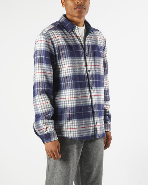 flannel reversible check model side