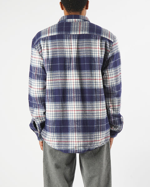 flannel reversible check model back