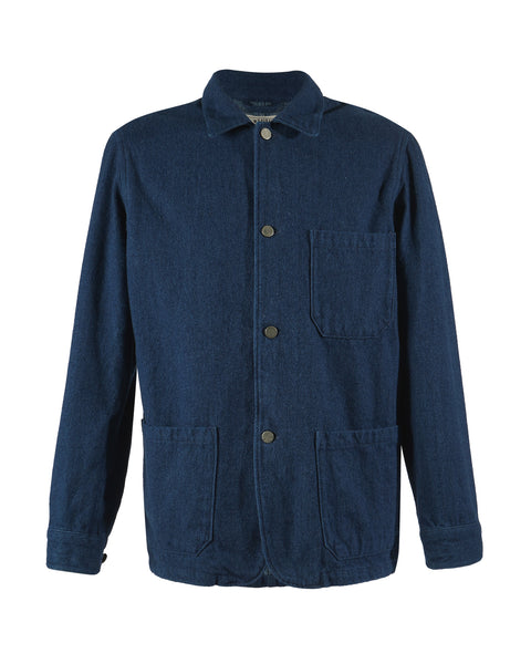 brushed denim jacket product front