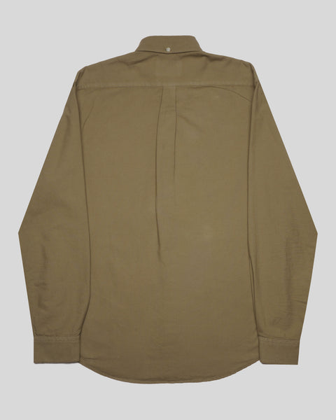 olive long sleeve oxford shirt product back