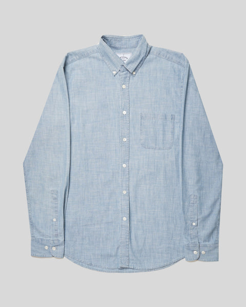 denim shirt chambray bust front