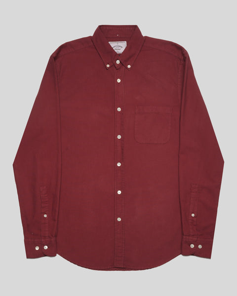 bordeaux long sleeve shirt oxford product front