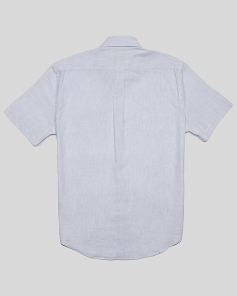 striped blue short sleeve shirt product back