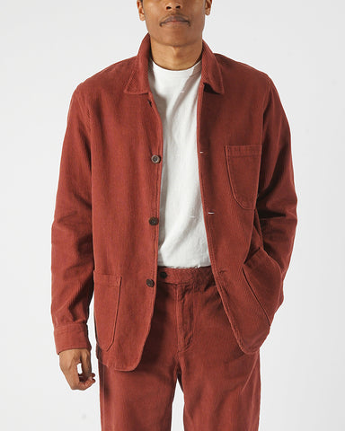 corduroy jacket bordeaux model front