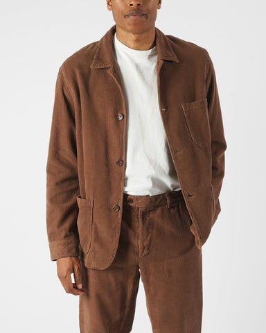 corduroy jacket brown model front