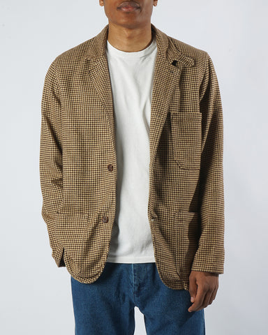 flannel jacket pied de poule model front