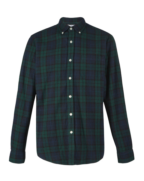 flannel shirt plaid green blue product front
