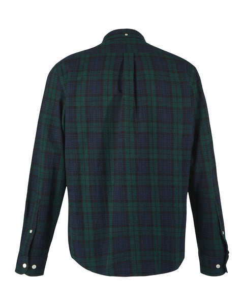 flannel shirt plaid green blue product back