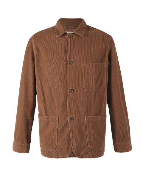 corduroy jacket brown bust front