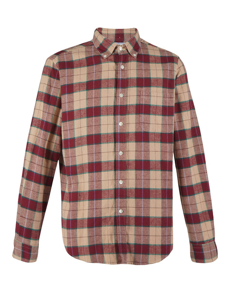 flannel shirt plaid red pink product front