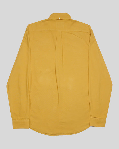 mustard long sleeve shirt oxford product back