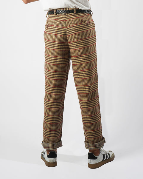 flannel trousers check model back