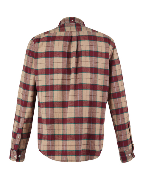 flannel shirt plaid red pink product back