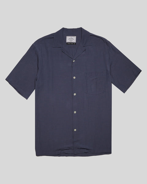 blue short sleeve shirt product front