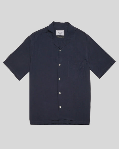 navy short sleeve shirt product front