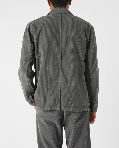 corduroy jacket grey model back