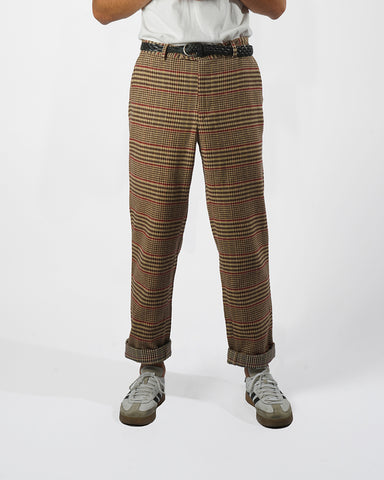 flannel trousers check model front