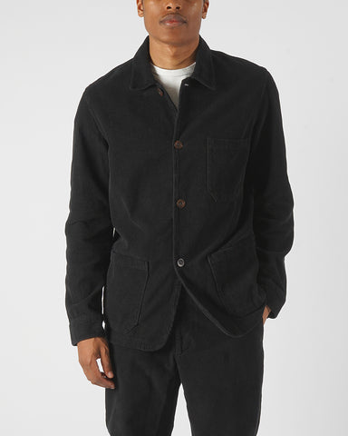 corduroy jacket black model front