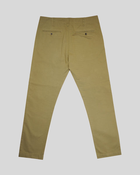 olive trousers product back