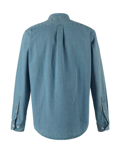 denim shirt blue bust back