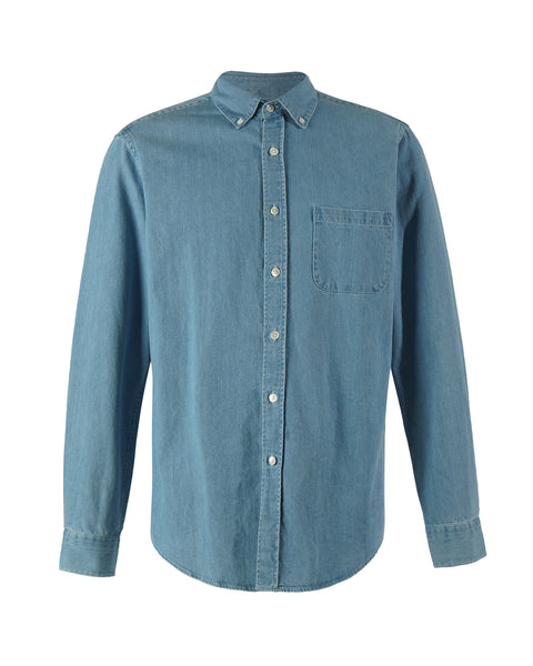 denim shirt blue bust front