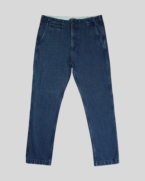 blue denim trousers product front
