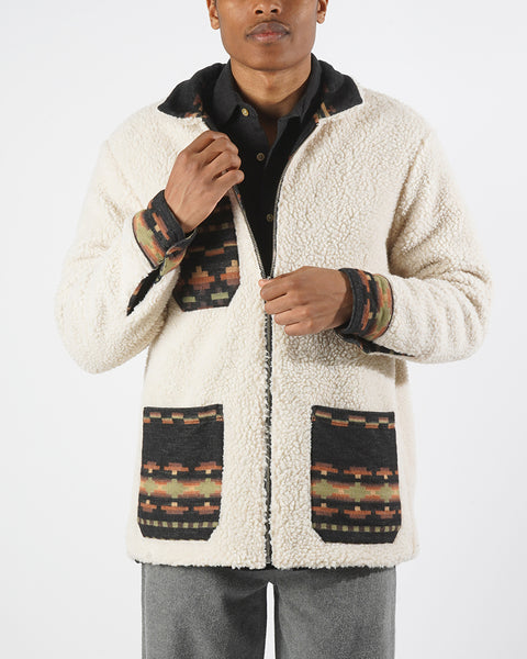 sherpa reversible jacket print model front