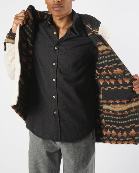 flannel reversible jacket print model changing