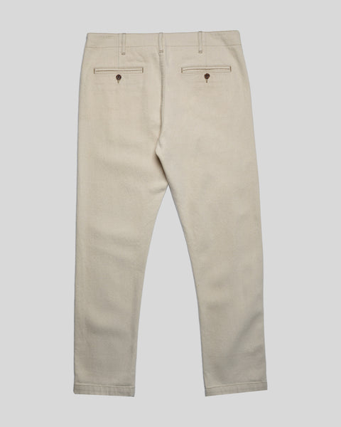 raw denim trousers product back