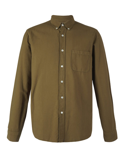 long sleeve shirt olive product front