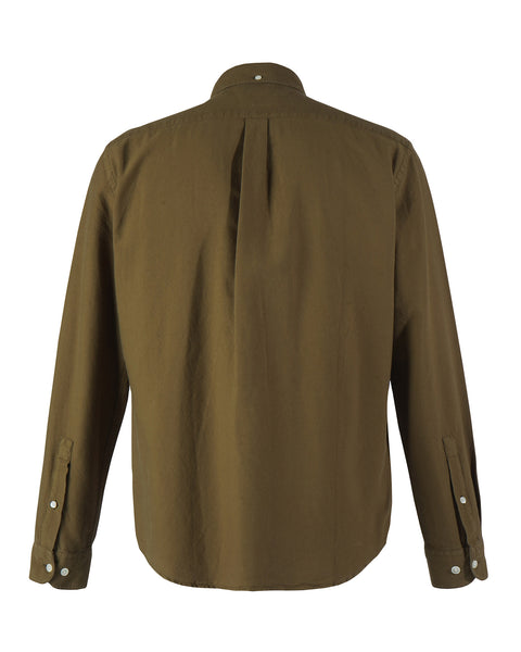 long sleeve shirt olive product back