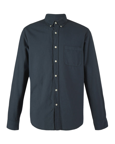 long sleeve shirt navy blue product front