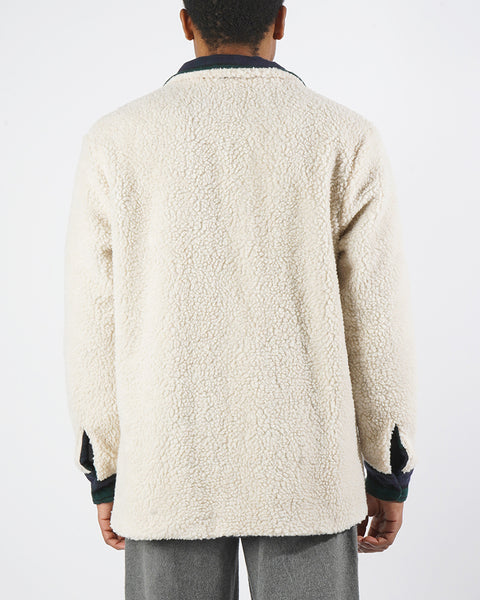 reversible jacket sherpa model back
