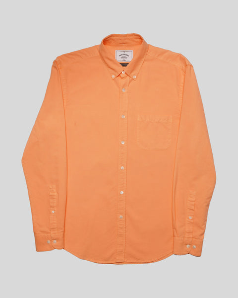 peach long sleeve oxford shirt product front