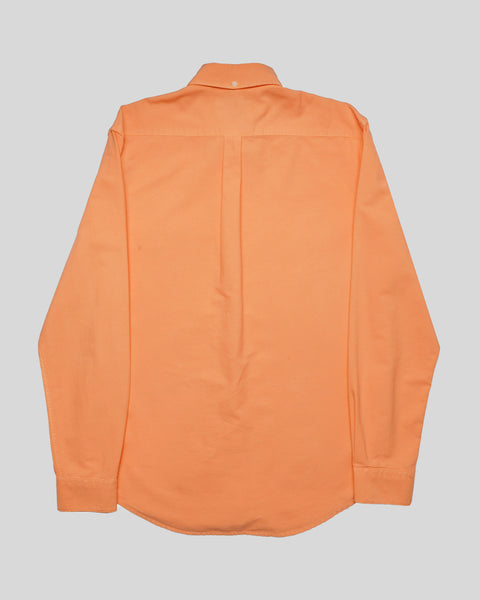 peach long sleeve oxford shirt product back