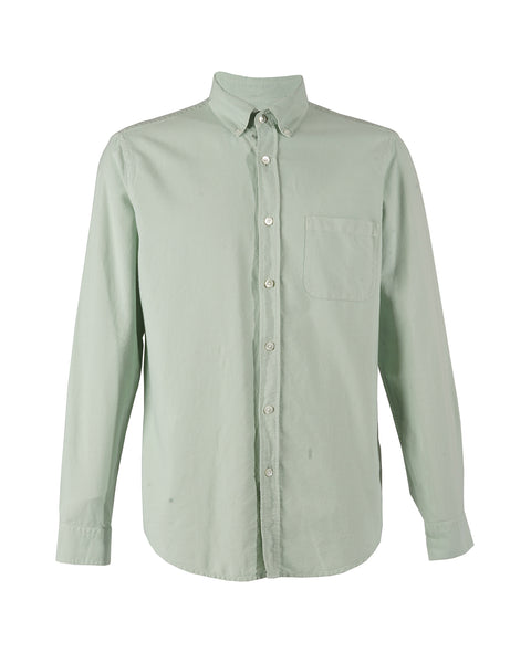 long sleeve shirt frosty green product front