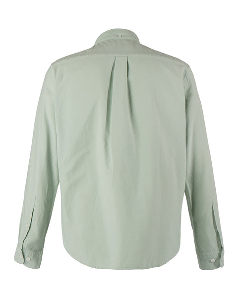 long sleeve shirt frosty green product back