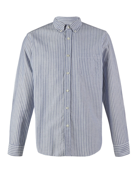 long sleeve shirt striped blue white product front